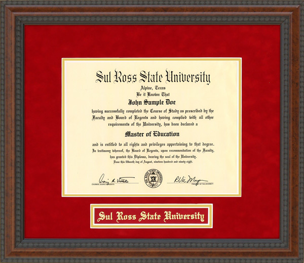 Sul Ross State University Srsu Diploma Frame By Wordyisms