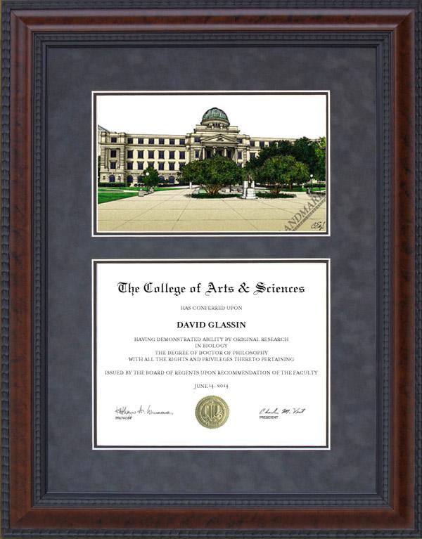 Diploma Frame With Texas A Amp M University Tamu Campus