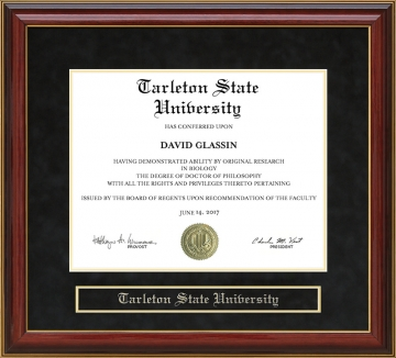 Tarleton State University Tx Diploma Frames And