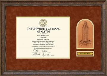 University Of Texas Ut Austin Tx Diploma Frames And