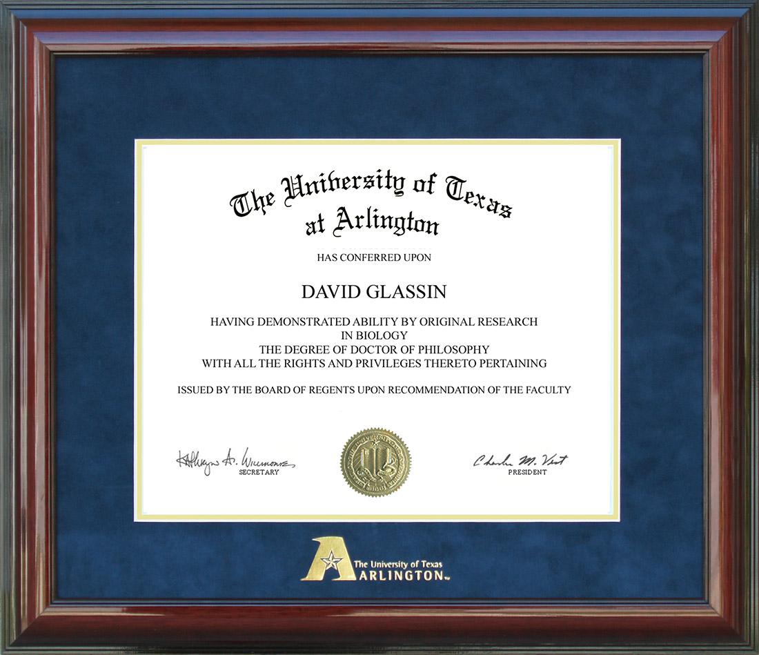 Ut Arlington Uta Diploma Frame With Embossed Logo By