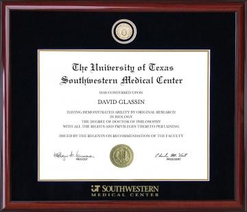 UT Southwestern Medical Center (UTSW) (TX) Diploma Frames
